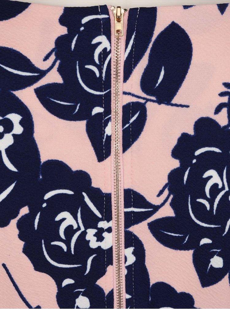 Modro-růžové květované šaty Mela London