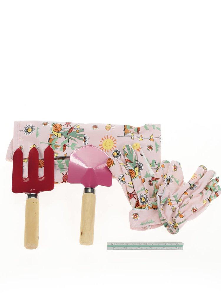 Růžový holčičí zahrádkářsky set Cooksmart