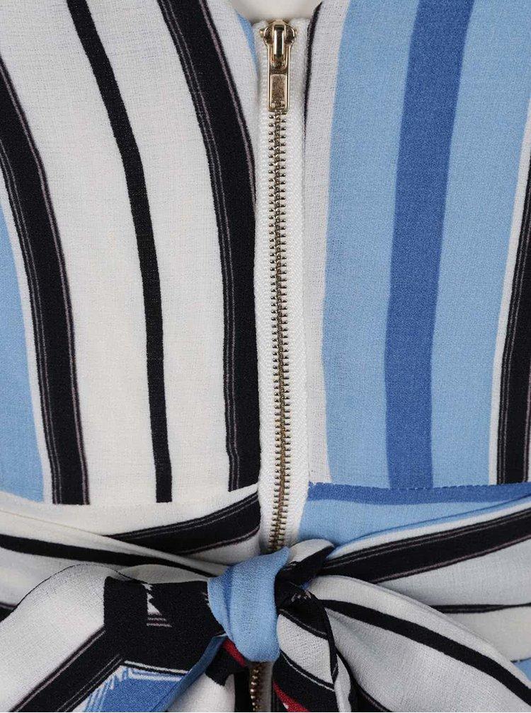 Rochie albastru & alb Mela London cu model