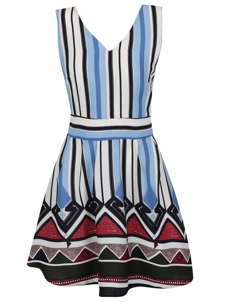 Bílo-modré pruhované šaty Mela London