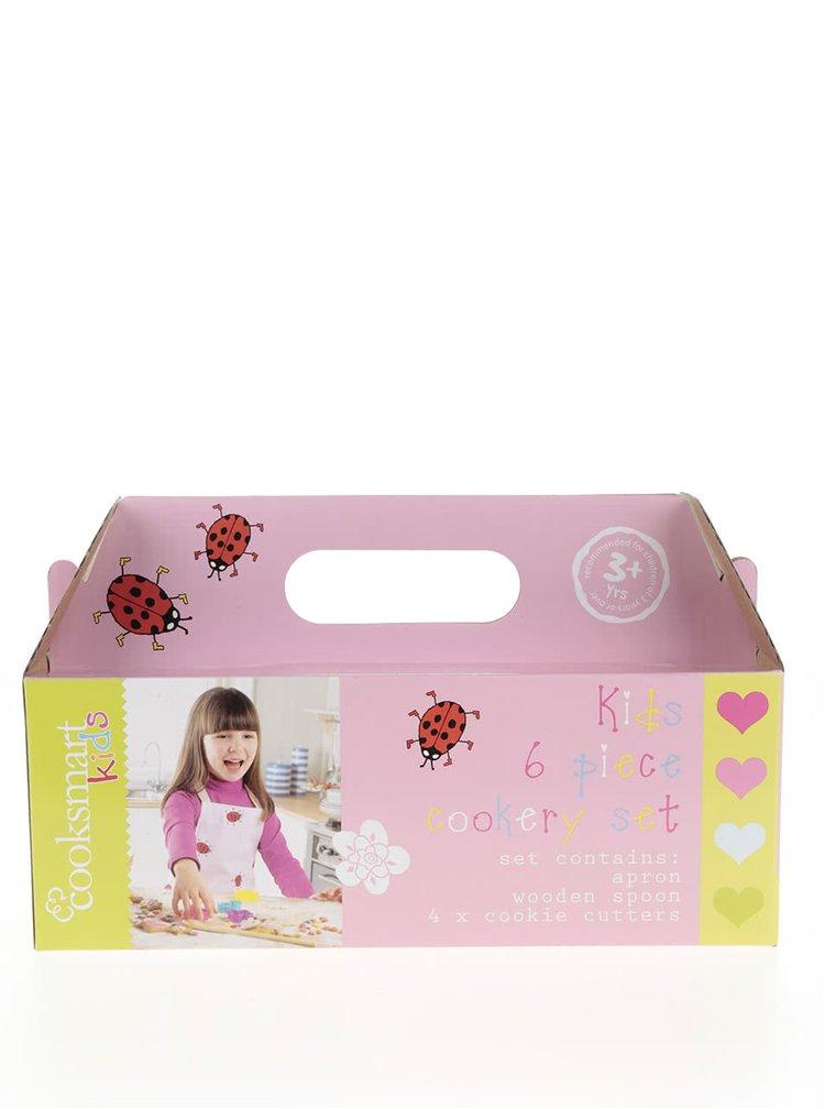 Set roz de bucătărie Cooksmart pentru fete