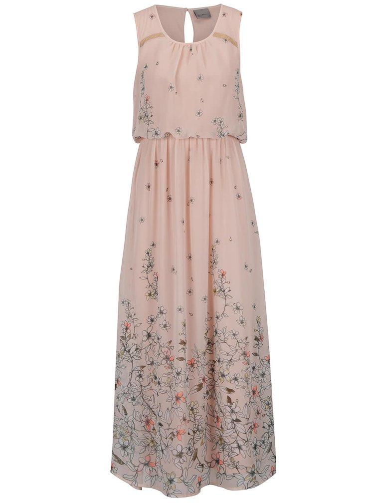 Rochie maxi roz VERO MODA Lea cu model