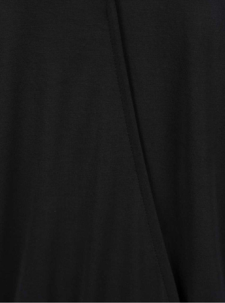 Černý top s aplikací v dekoltu VERO MODA Jetti
