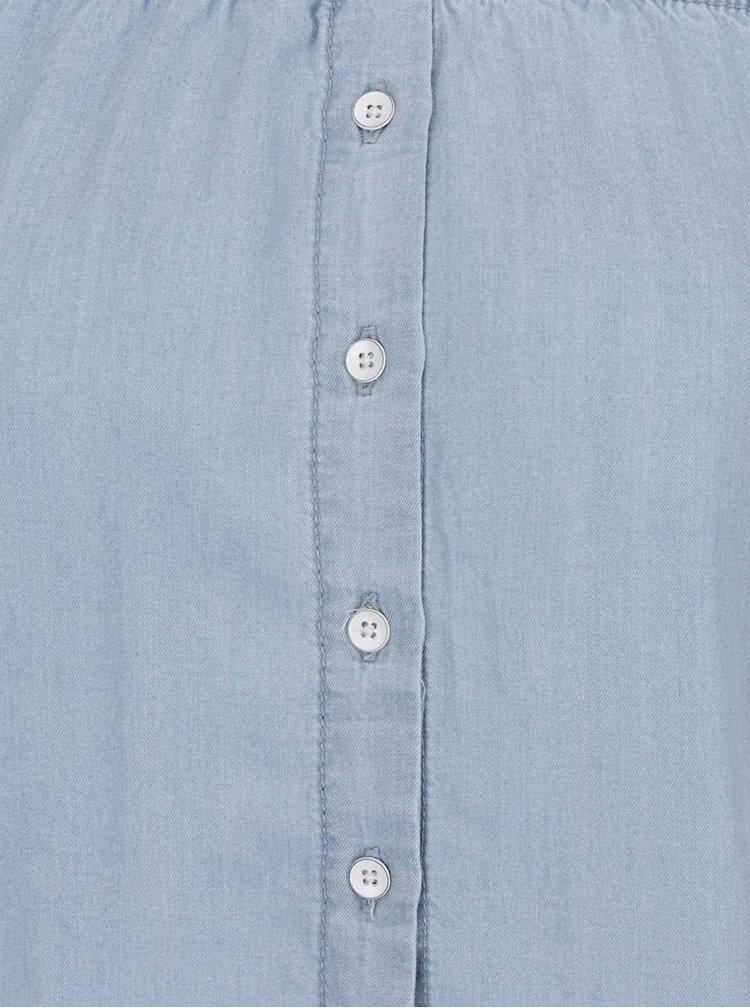 Světle modrá košile s odhalenými rameny Noisy May Endi