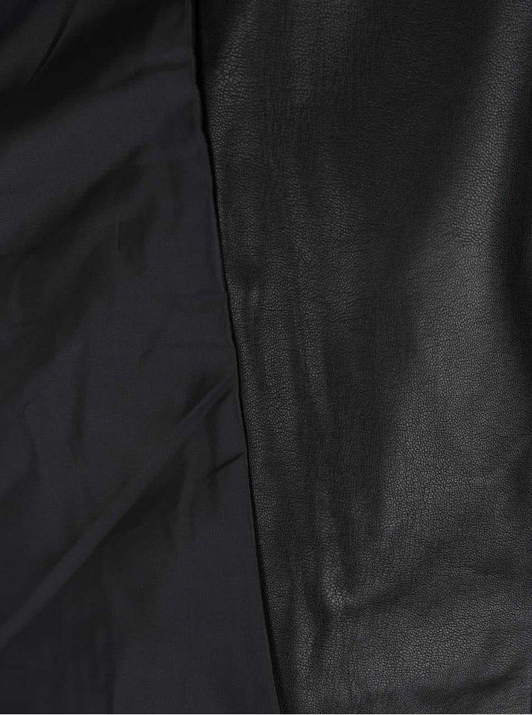 Černý koženkový křivák Haily´s Sonja