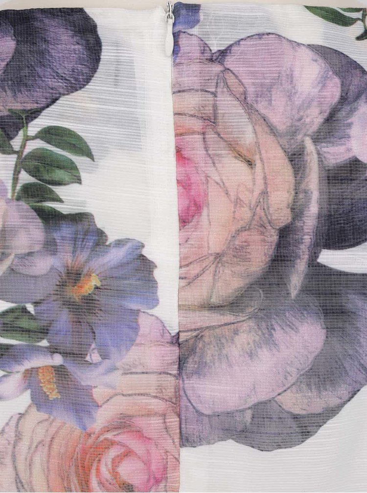 Rochie crem Mela London cu model floral