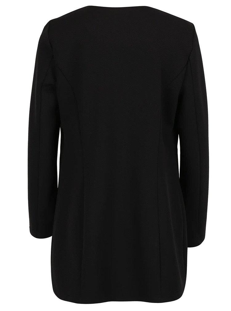 Černý lehký kabát VERO MODA Struc-Snow