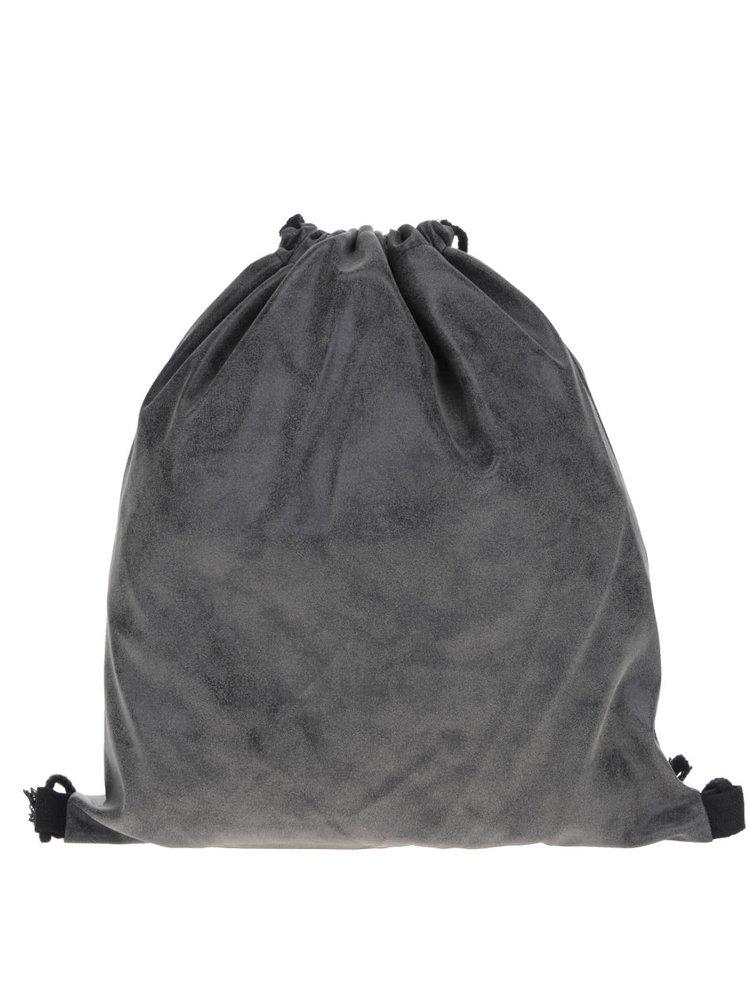 Tmavě šedý vak Haily's Bag Velours