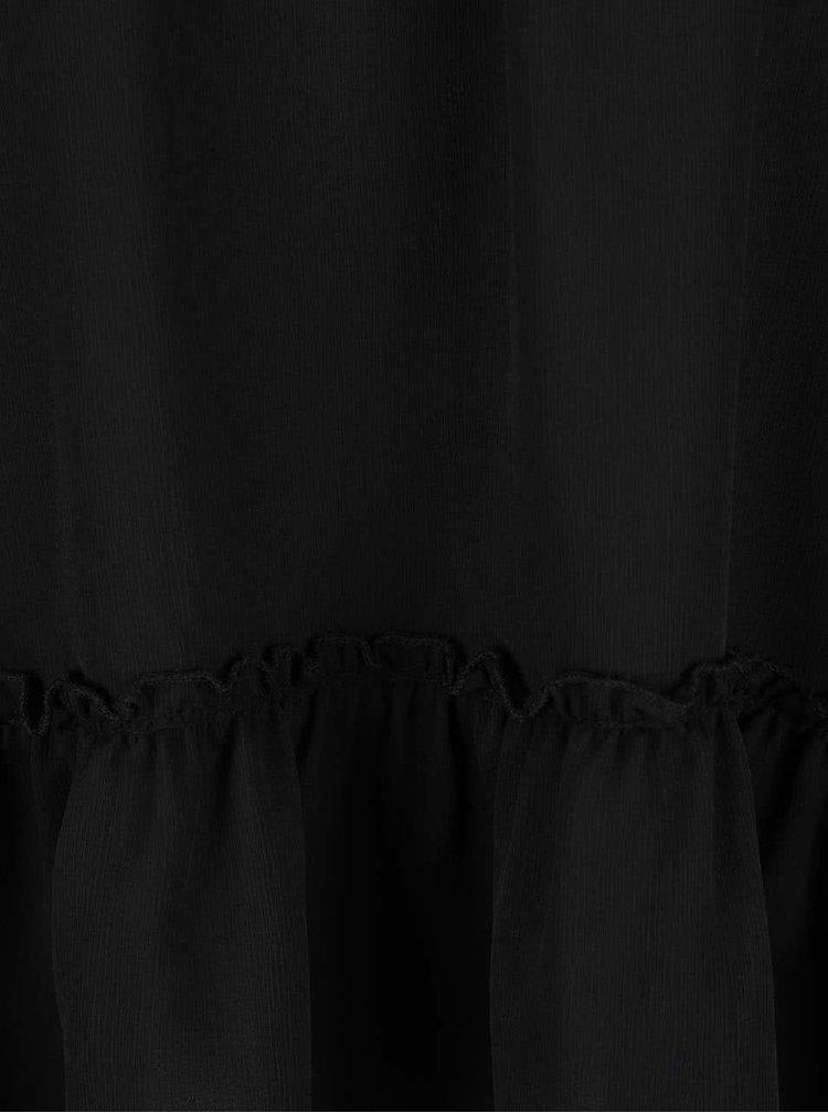 Bluza neagra Haily's Cosa cu umerii goi si volan decorativ