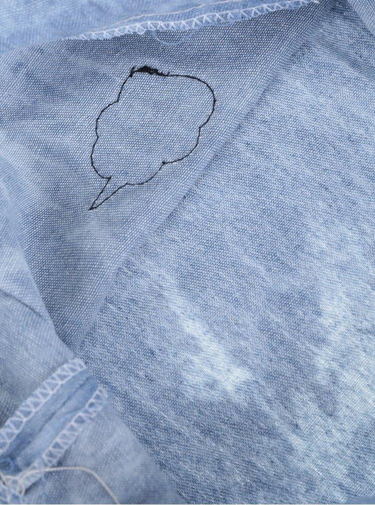 Modrý vak s nášivkami Haily's Bag Patch