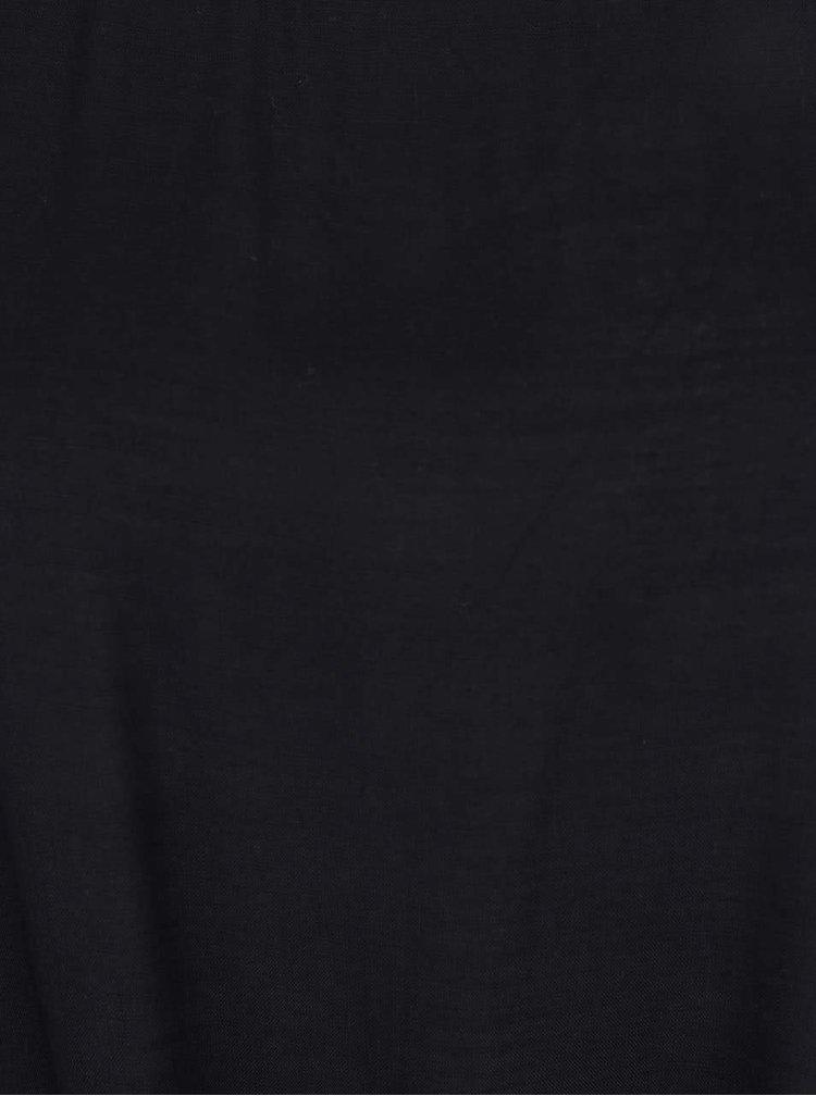 Černé tričko s uzlíkem VERO MODA Fay