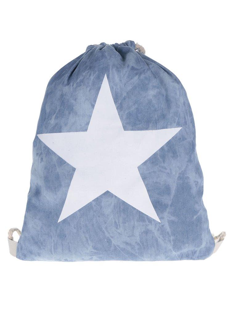 Světle modrý vak s potiskem hvězdy Haily's Bag Star