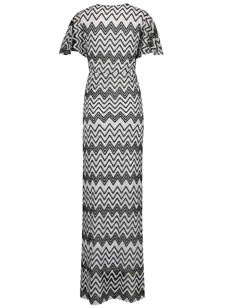 Černo-bílé krajkové maxišaty Mela London