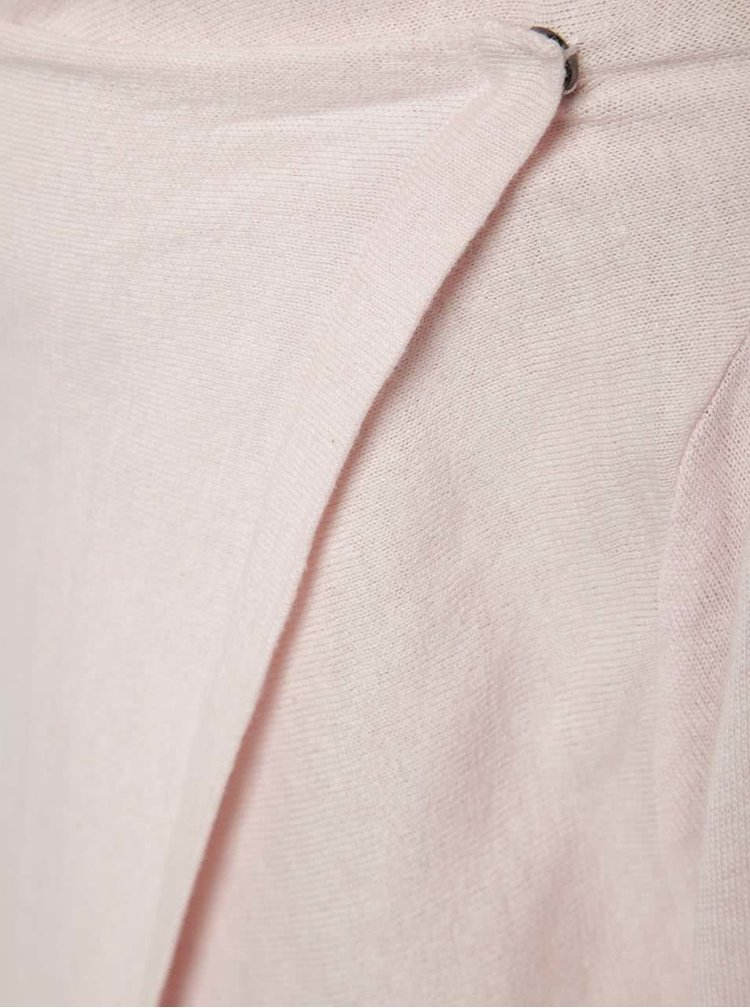 Světle růžový holčičí kardigan Blue Seven