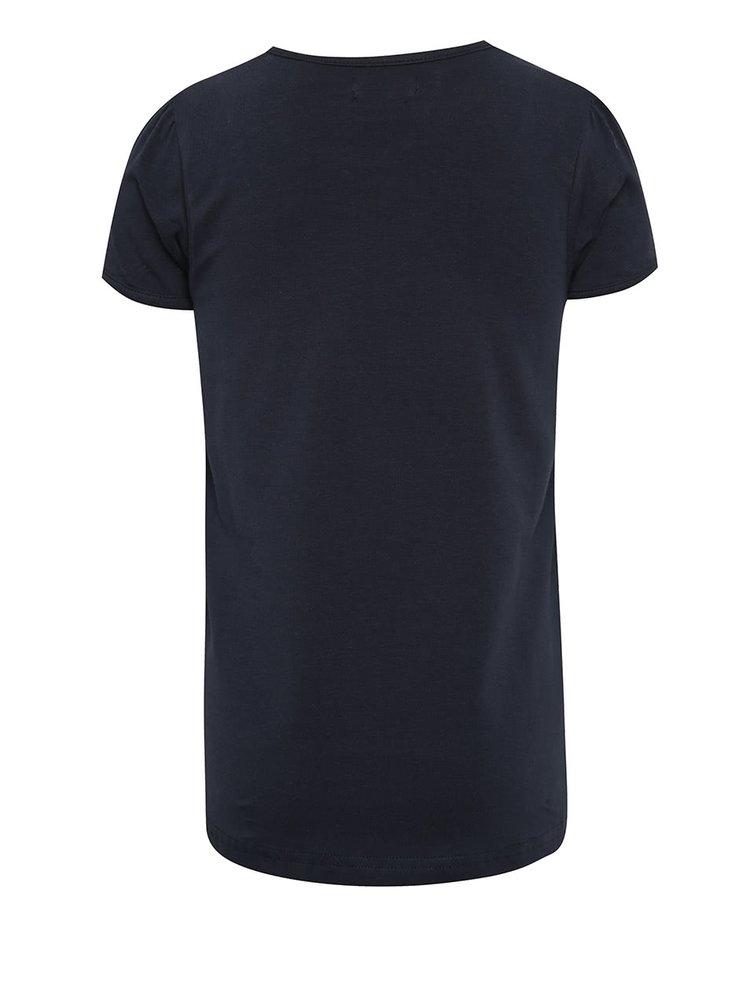 Tricou albastru inchis cu print Blue Seven pentru fete