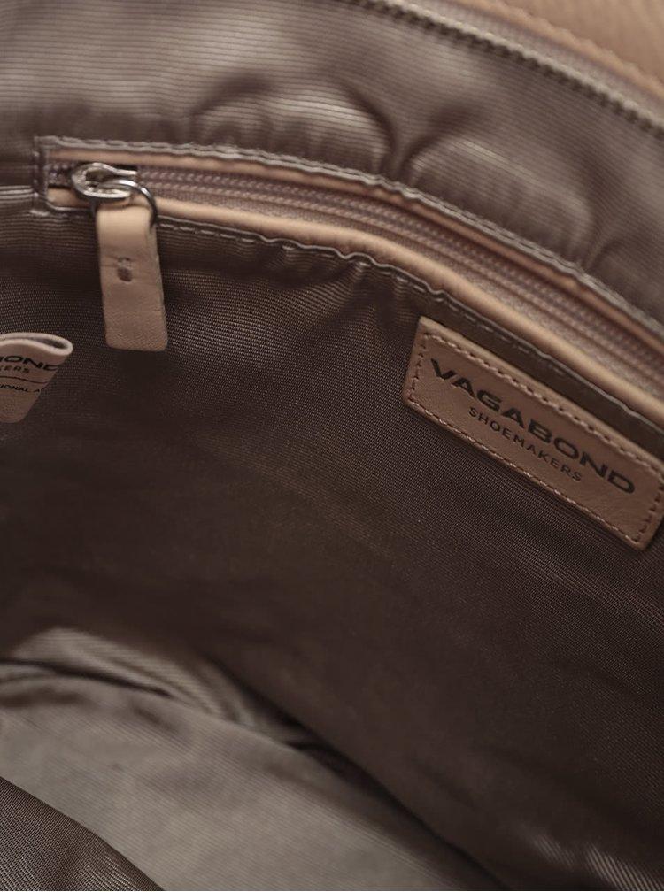 Béžová kožená crossbody kabelka Vagabond Madrid