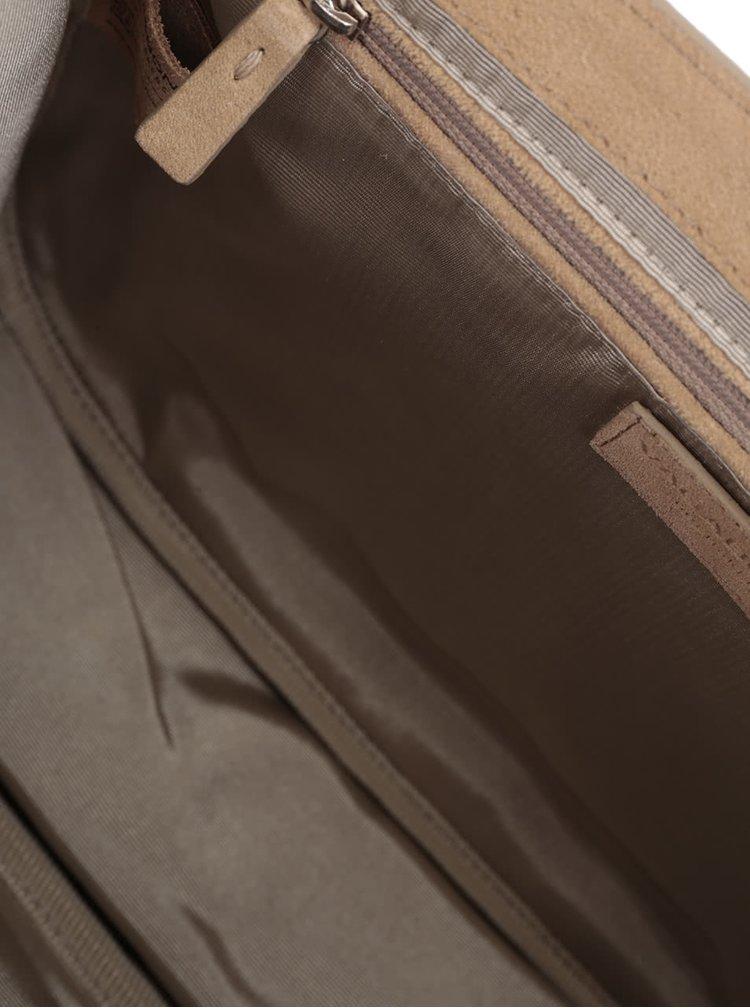 Světle hnědá semišová crossbody kabelka Vagabond Cologne