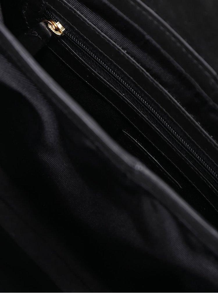 Černá kožená crossbody kabelka Vagabond Valencia