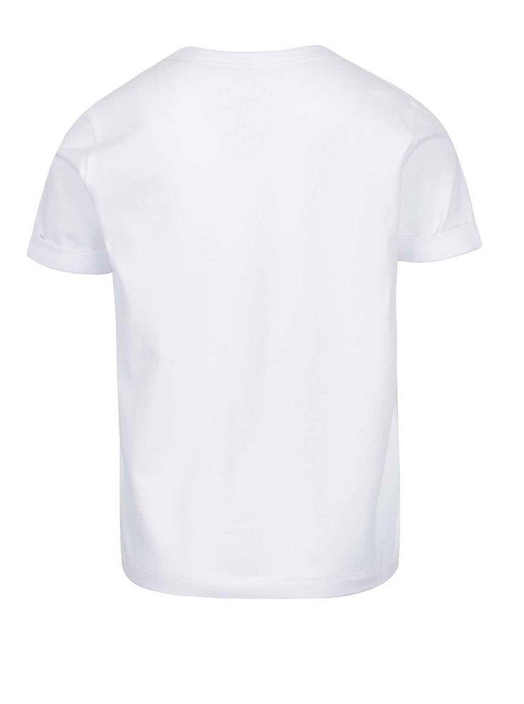 Bílé klučičí triko s potiskem name it Zarl