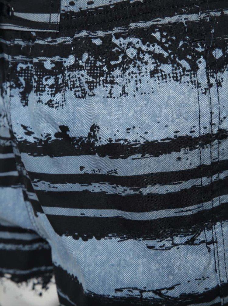 Modré klučičí plavky se vzorem Blue Seven