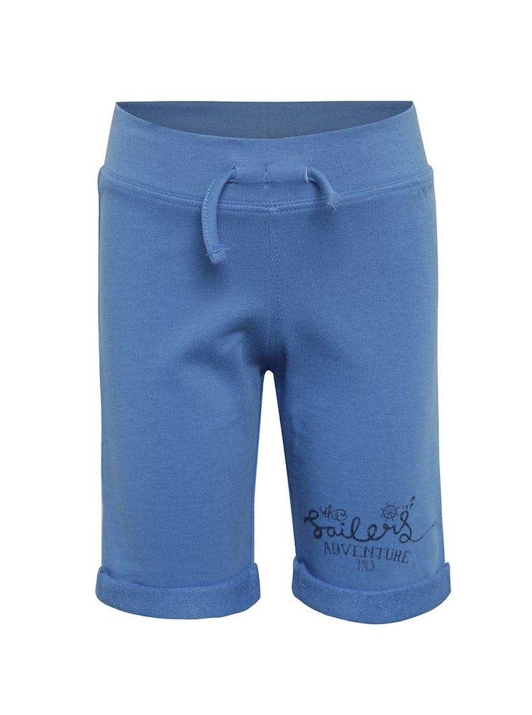 Pantaloni scurți albaștri cu șiret în talie Blue Seven pentru băieți