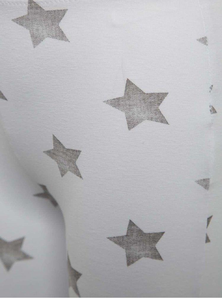 Bílé holčičí 3/4 legíny s motivem hvězd Blue Seven