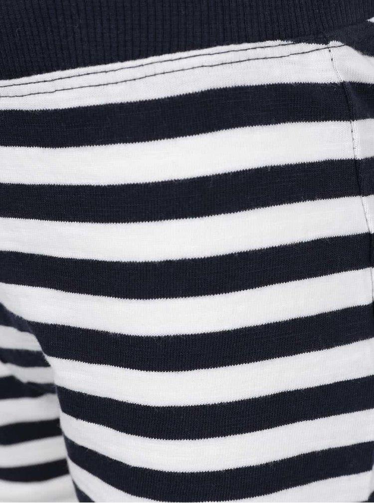 Krémovo-modré holčičí pruhované kraťasy name it Tisa