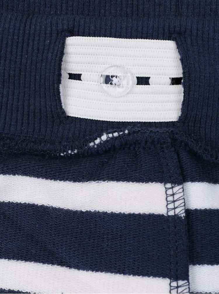 Krémovo-modré klučičí pruhované kraťasy name it Iron