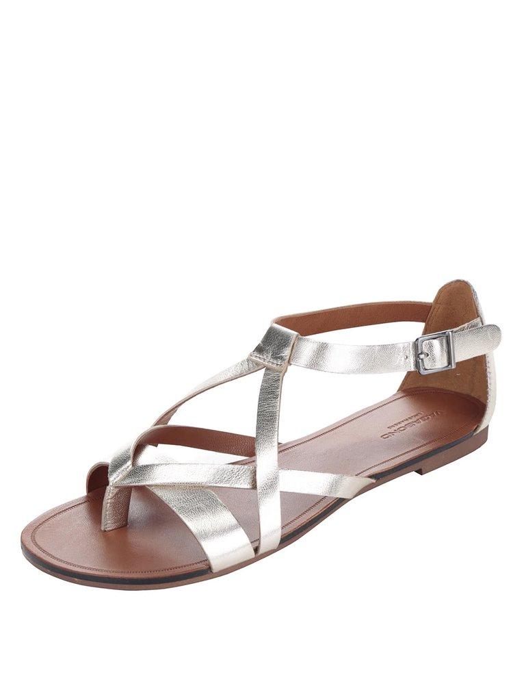 Sandale aurii Vagabond Tia din piele