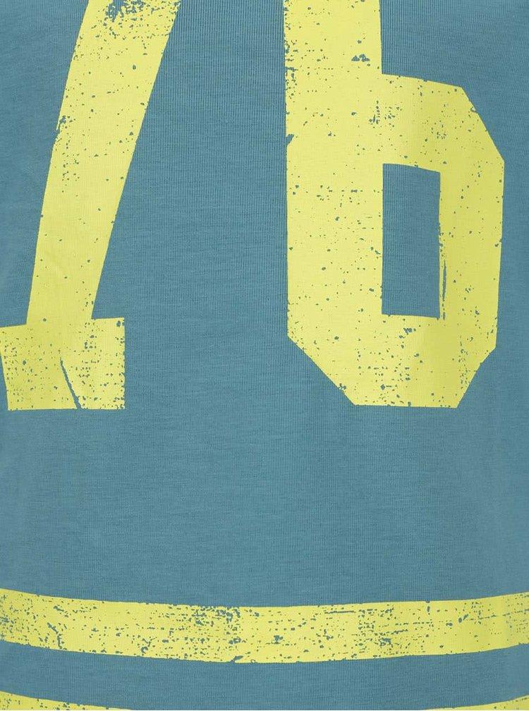 Modré klučičí triko s číslem name it Filippo
