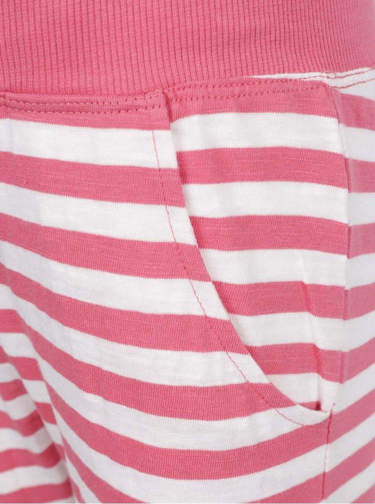 Bílo-růžové holčičí pruhované tepláky name it Tisa