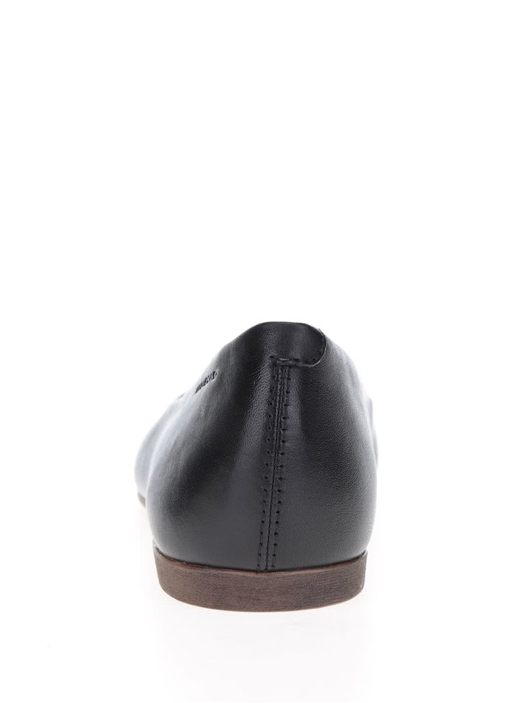 Černé kožené baleríny Vagabond Ayden