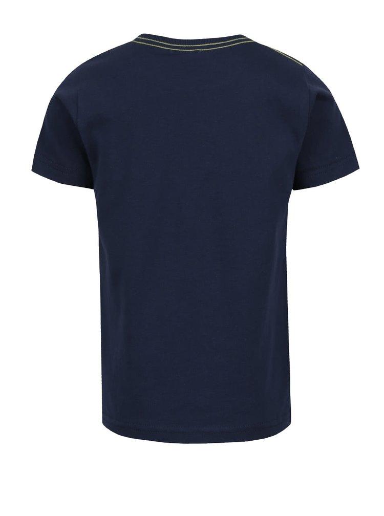 Tricou albastru închis name it Faik din bumbac cu print