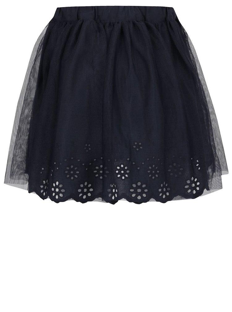 Tmavě modrá tylová holčičí sukně s madeirou name it Hey