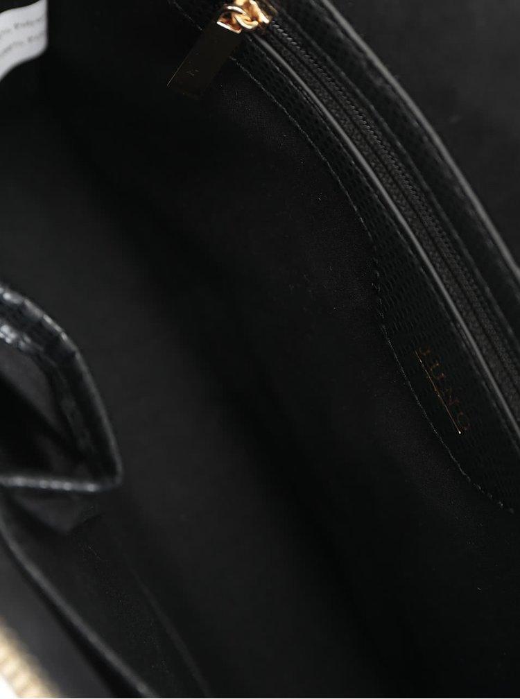 Geanta neagra Juno cu detalii aurii