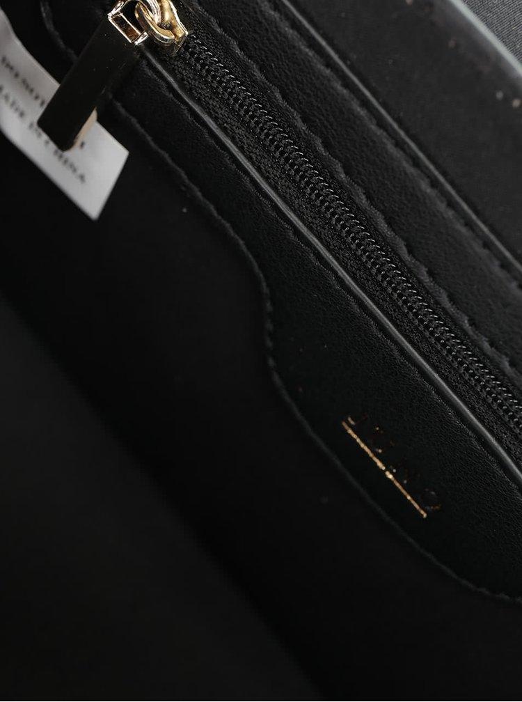 Vínovo-černá crossbody kabelka s hadím vzorem Juno