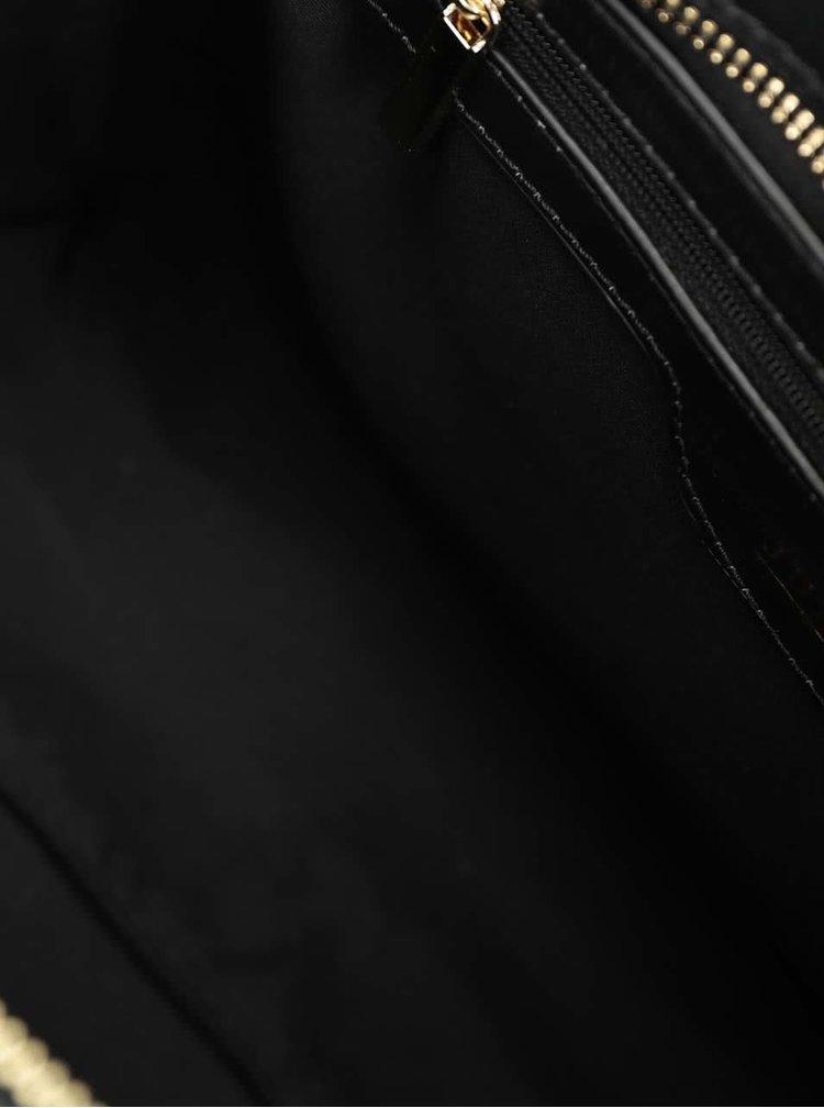 Geantă neagră Juno cu accesoriu pompon detașabil