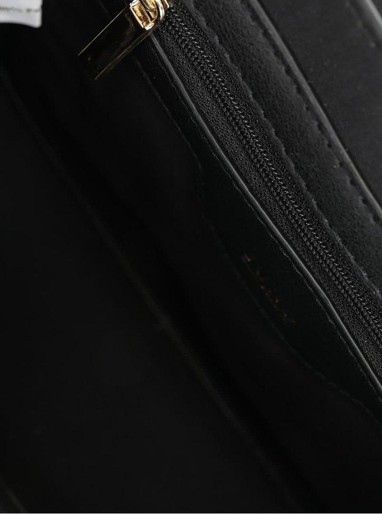 Černá crossbody kabelka s jemným vzorem Juno