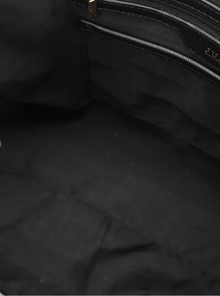 Geanta neagra Juno cu model lacuit