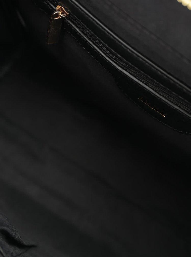 Černá lesklá kabelka s detaily ve zlaté barvě Juno