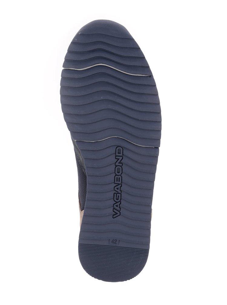 Tmavě modré pánské kožené tenisky Vagabond Apsley