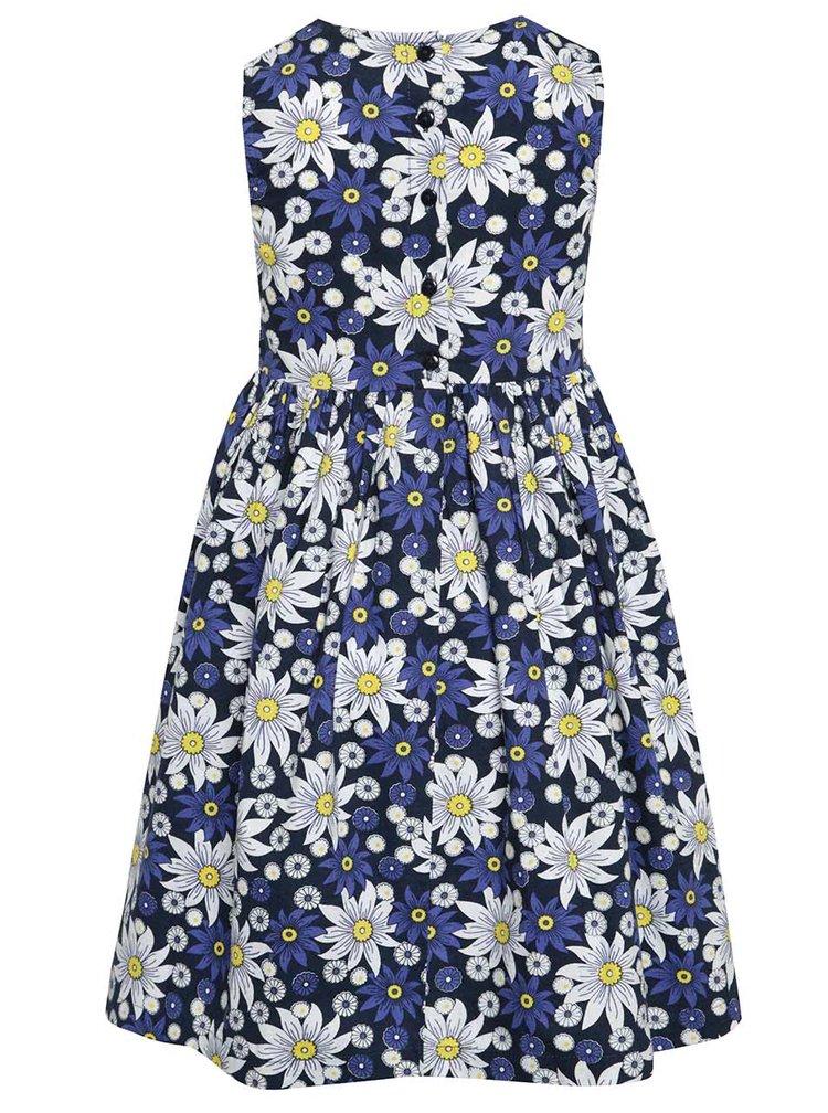 Modré květované holčičí šaty Blue Seven