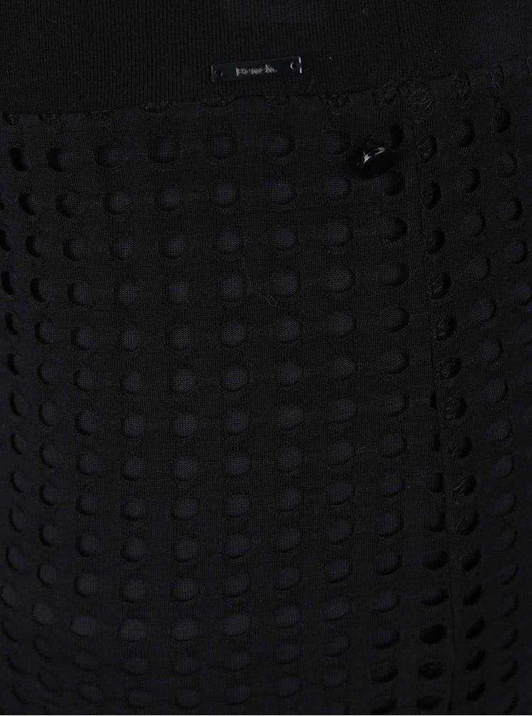Fusta maxi neagra Bench cu perforatii