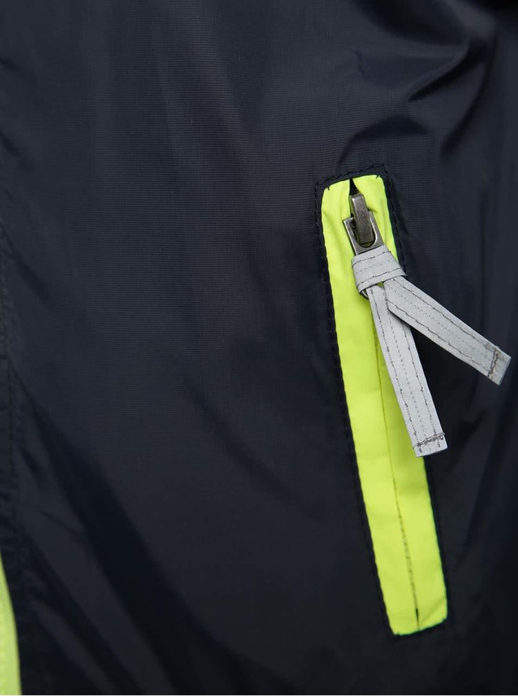 Modrá klučičí bunda s kapucí Blue Seven
