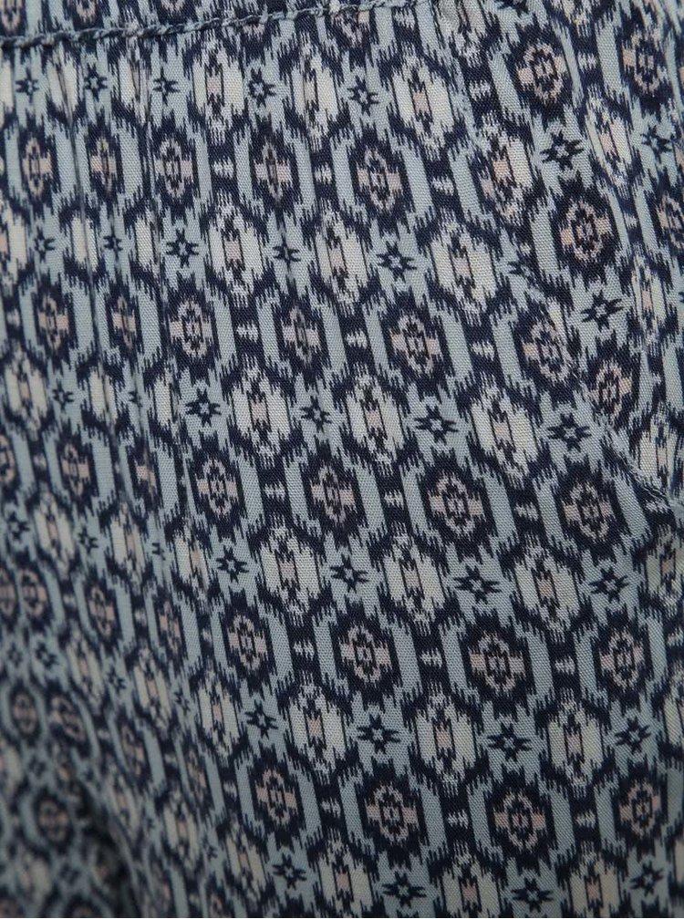 Modré holčičí vzorované kalhoty Blue Seven