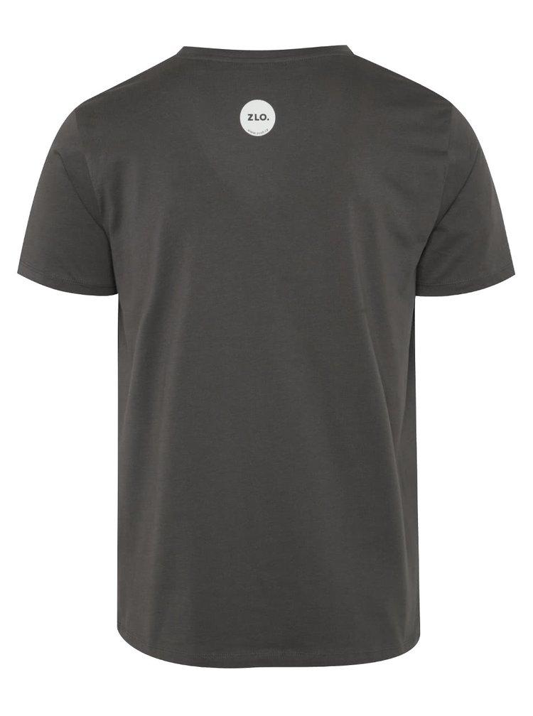 Tricou gri inchis ZOOT Original Free fucks din bumbac organic cu print