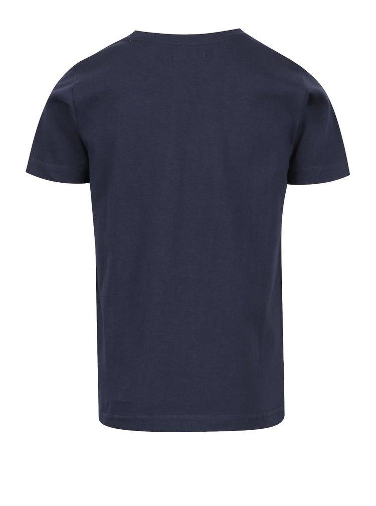 Tmavě modré klučičí triko s motivem auta Blue Seven