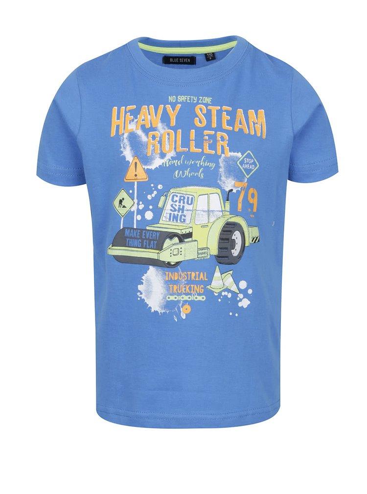 Modré klučičí triko s motivem Blue Seven