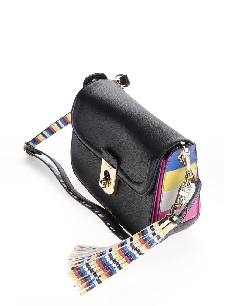 Geantă crossbody neagră ALDO Iborede cu detalii multicolore
