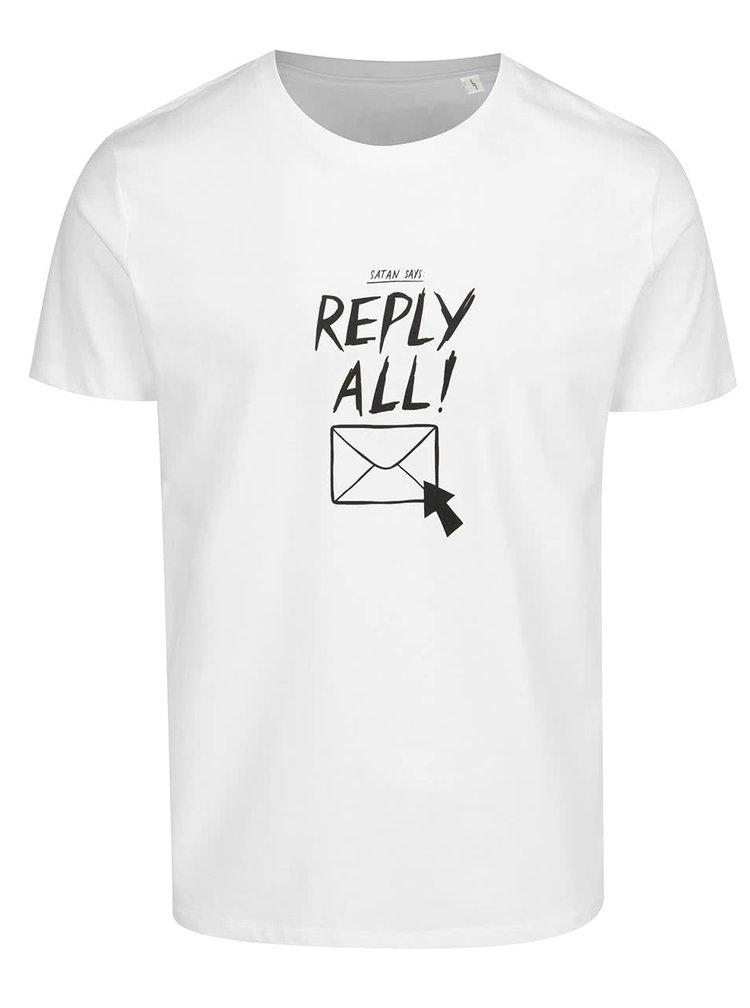 Bílé pánské triko ZOOT Originál Reply all